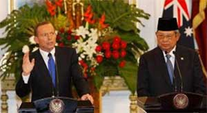 Australian Prime Minister and the Indonesian President are holding  a joint press conference