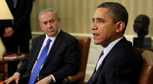 US President Barack Obama with Netanyahu in the Oval Office. Washington, DC, on March 5, 2012. Bloomberg